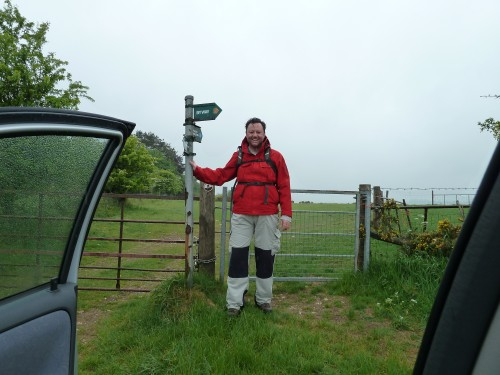 Setting off on my Combe Gibbet walk
