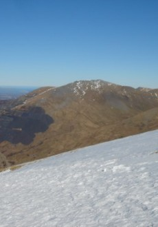 Looking back from Mount Snowdon down the LLanberis Pass