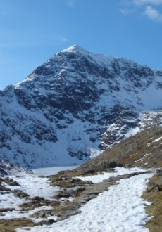 One last view of Snowdon as we make our way along the PYG Track to Pen-y-Pass