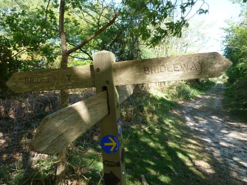 Sandlings Walk Bridleway Signpost Dunwich Suffolk May 2011