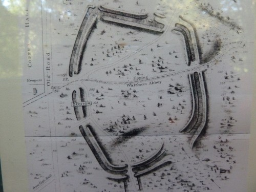 Original map of Ambresbury Banks Fort in Epping Forest Essex