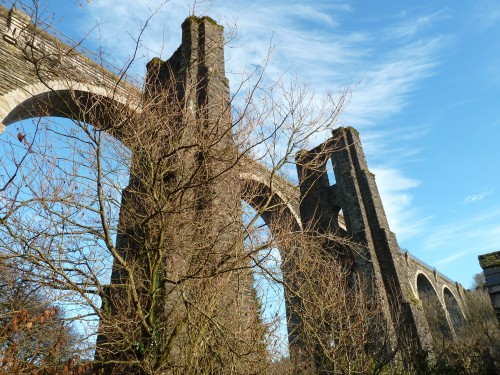 Cornwall Walks Liskeard to Looe Walking Route at the railway bridge near the A38