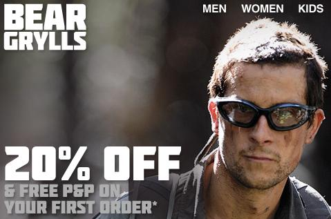 Bear Grylls Free P and P discount offer 2011 Walks And Walking