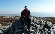 The Brecon Beacons South Wales - we were headed to the peak on my right hand shoulder