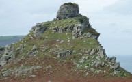 Castle Rock at Lynton Valley of the Rocks walking route Devon Walks - Walks And Walking