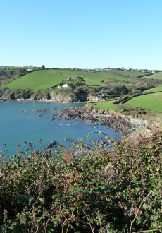 Looking down to Talland Bay - Looe Polperro Walking Route Cornwall Walks - Walks And Walking