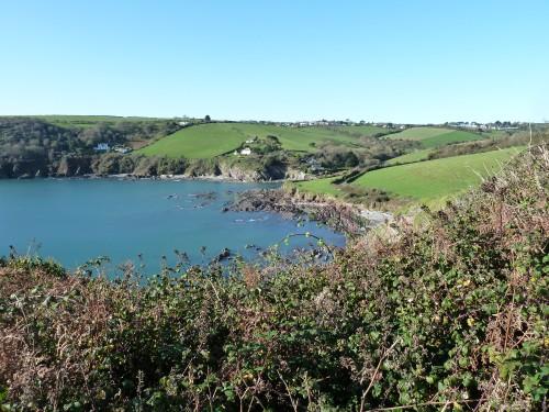 Looking down to Talland Bay - Looe Polperro Walking Route Cornwall Walks - Walks And Walking