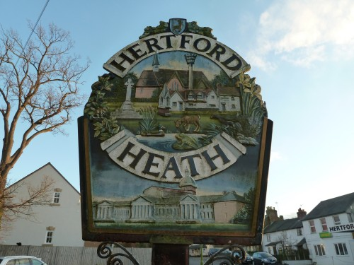 Hertfordshire Walks Hertford Heath Walking Route Hertford Heath Village Sign