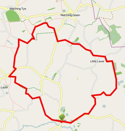 Walks And Walking - Essex Walks Moreton Walking Route - ViewRanger OpenStreetMap Version