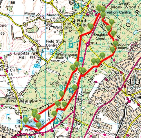 viewranger epping forest family walk walking route in