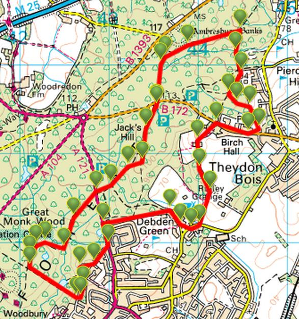 map a path, map a drive, map a course, map a run, map a cut, map a distance, map a process, on a walk route map