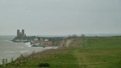 Walks And Walking - Kent Walks Herne Bay To Margate Walking Route - Reculver Towers and Roman Fort View From Herne Bay