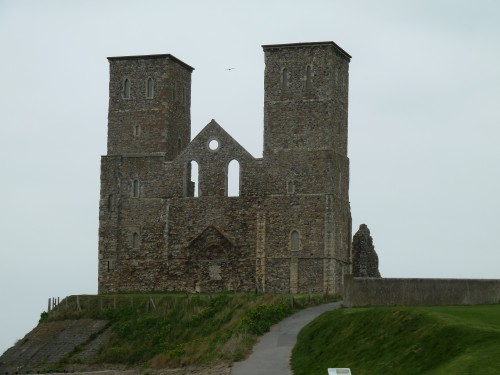 Walks And Walking - Kent Walks Herne Bay To Margate Walking Route - The Front of Reculver Towers and Roman Fort