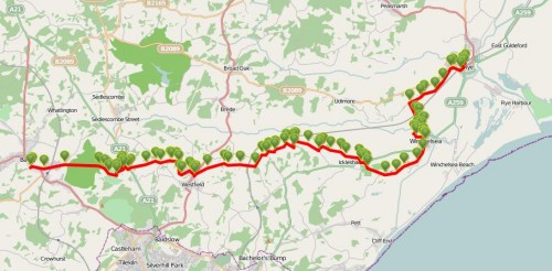 Walks And Walking - East Sussex Walks 1066 Country Walk Walking Route Map 2