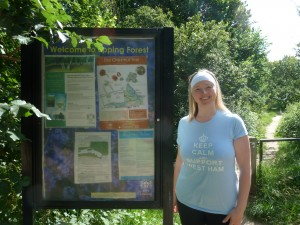 Walks And Walking – Epping Forest The Chestnut Trail Walking Route Entrance