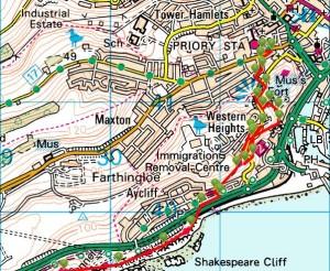 Walks And Walking - Kent Walks Dover to Folkestone Walking Route 1