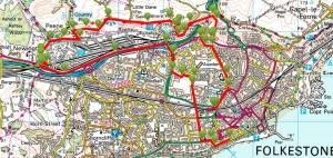 Walks And Walking - Kent Walks Folkestone White Horse Walking Route