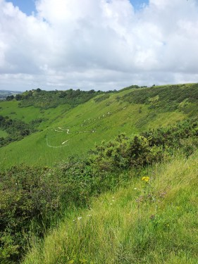 Walks And Walking - Kent Walks Folkestone White Horse Walking Route - Folkestone White Horse