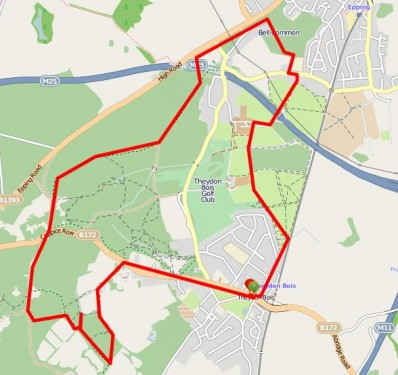 Walks And Walking - Essex Walks Oak Trail Epping Forest Walking Route Map