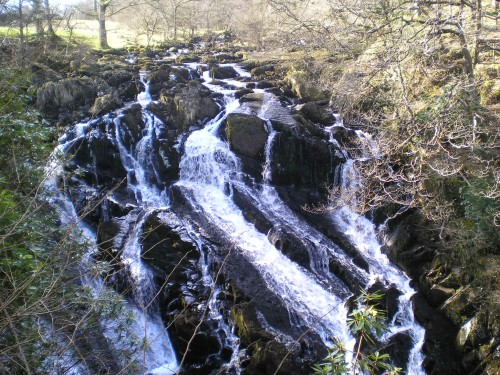 Walks And Walking - Wales Walks Snowdonia Betws-y-Coed Walking Route - Afon Llugwy river