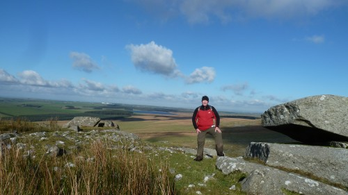 Walks And Walking - Cornwall Walks Bodmin Moor Rough Tor And Brown Willy Walking Route - David on top of Rough Tor