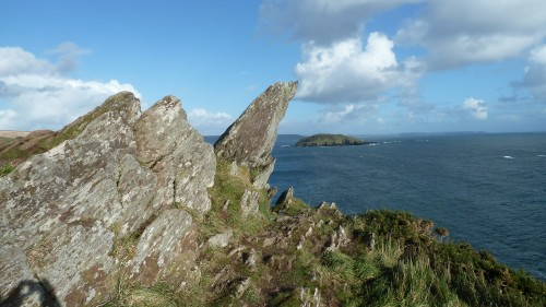 Walks And Walking - Cornwall Walks Looe to Polperro Walking Route - St Geroge's Island