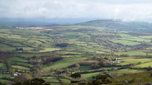 Walks And Walking - Cornwall Walks Bodmin Moor Caradon Hill Walking Route - Patchwork Quilt Cornwall