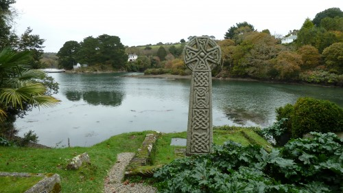 Walks And Walking St Just Church Roseland Cornwall on the river