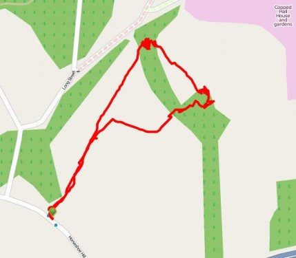 Walks And Walking - Epping Forest Horseshoe Hill Walking Route Map