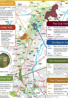 Way Marked Trails in Epping Forest location map 2013