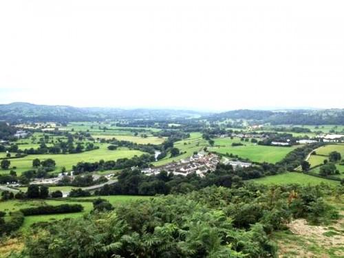 View From Caer Drewyn Walk at Corwen Walking Festival