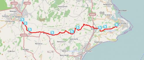 viewranger bembridge trail walking route in newport isle of