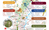 Walks And Walking - New Epping Forest Way Marked Trails Map 2014