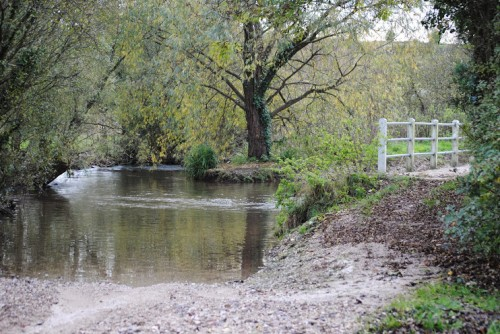 Walks And Walking - Top 3 Walks in Stratton Dorset - Ford Over River Frome At Wrackleford