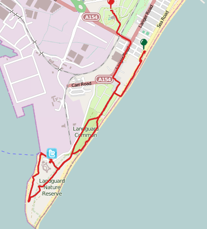 Felixstowe Beach On Map