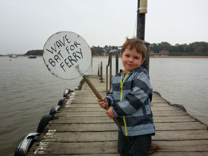 Felixstowe September 2014 - Tedi Waving Ferry Bat