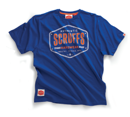 Scruffs Authentic Royal Blue T Shirt (£11.95+VAT)