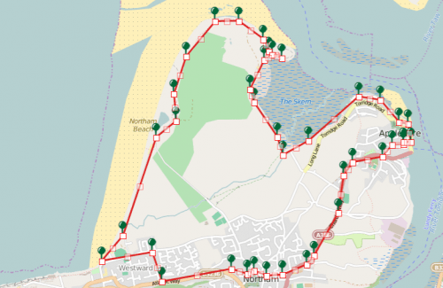 Walks And Walking - Appledore Walk in Devon Map