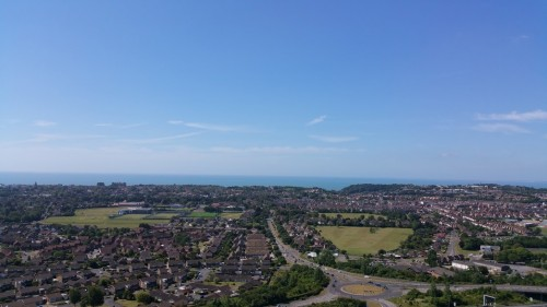 Walks And Walking - Folkestone 3 Peaks Challenge - Folkestone From Castle Hill