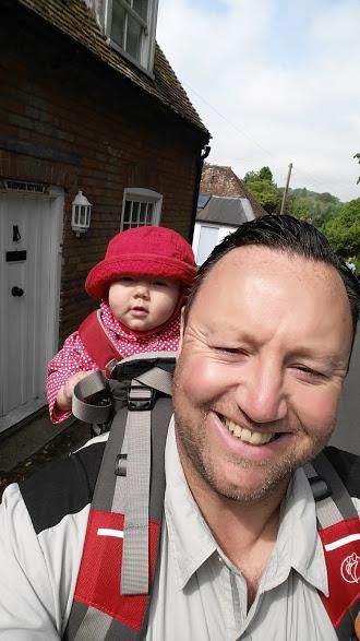 Walks And Walking - Barham Walk In Kent - Taking Rose For Her First Walk