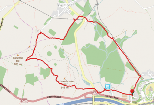 Walks And Walking - Newington Walk In Kent Map