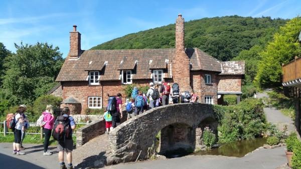 HF Holidays 4 Mile Family Circular Walk From Holnicote House - Allerford Village Porlock - Packhorse Bridge