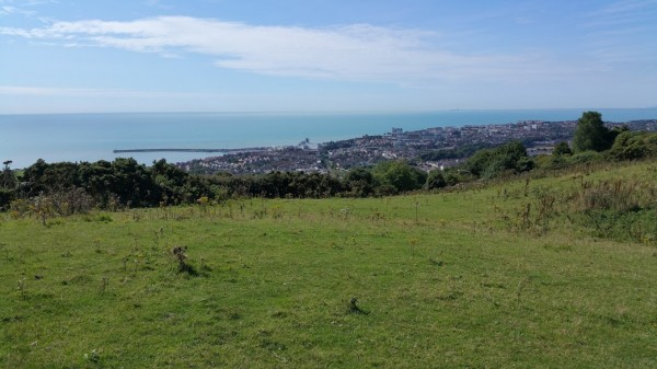 Walks And Walking - Dover Priory To Folkestone West Walk In Kent - Folkestone From Castle Hill