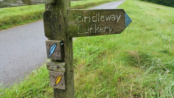 HF Holidays 11 Mile Linear Hard Walk to Dunkery Beacon - Dunkery Signpost