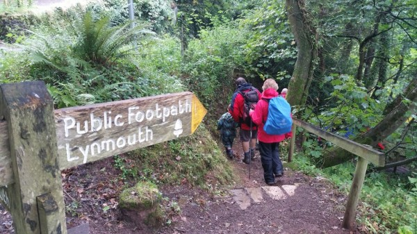 HF Holidays 8 Mile Linear Hard Walk to Lynmouth - Woodlands To Lynmouth
