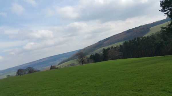 Darwin Forest Country Park Walks - Bakewell To Chatsworth House - The View Back To Calton Lees