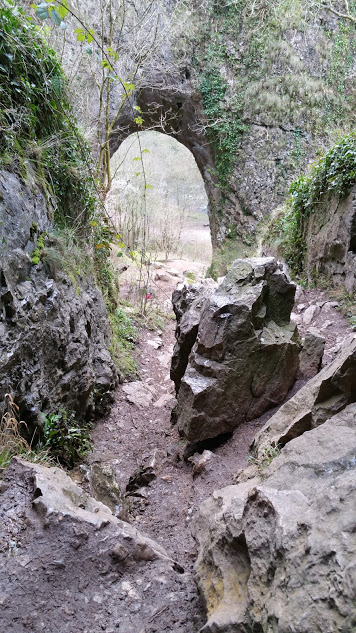 Darwin Forest Country Park Walks - Dove Dale - View Down From Natural Arch and Reynard's Cave
