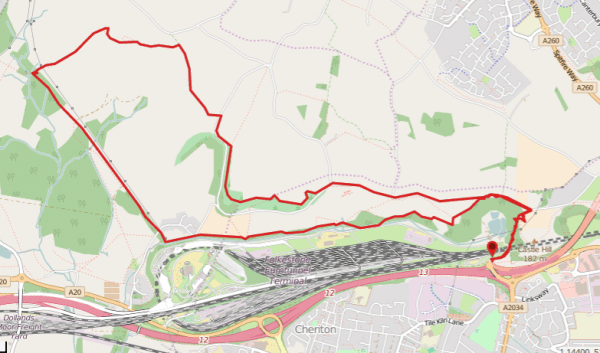 Walks And Walking - Peene Quarry Country Park Walk in Kent - Walking Route Map