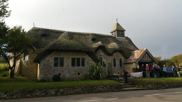 HF Holidays Guided Walk - The Needles Circular Walking Route - St Agnes Thatched Church