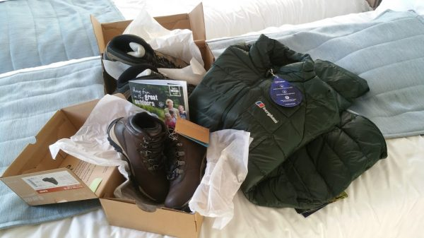 Walking Goodies from Berghaus and Hi-Tec.